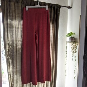 Wide leg lounge pants f21 forever 21 red rust